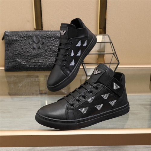 Armani High Tops Shoes For Men #823554