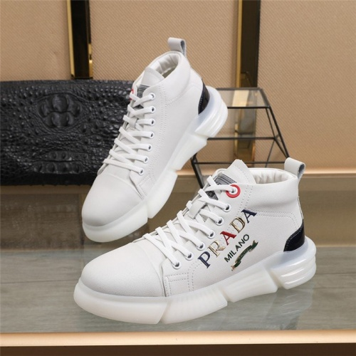 Prada High Tops Shoes For Men #823589