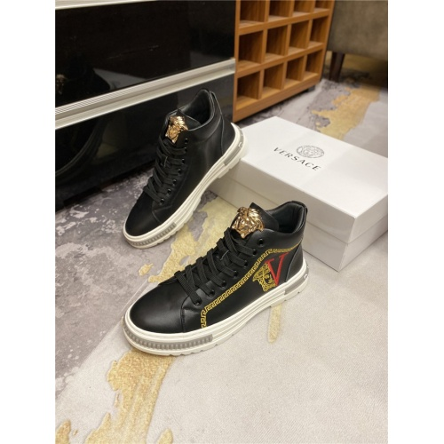 Versace High Tops Shoes For Men #823758