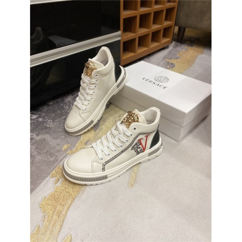 Versace High Tops Shoes For Men #823759