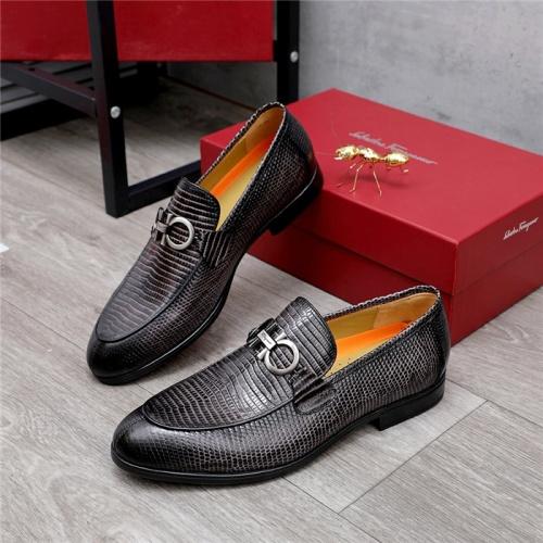 Ferragamo Salvatore FS Leather Shoes For Men #823767