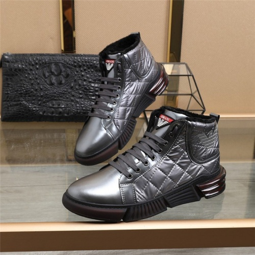 Armani High Tops Shoes For Men #823777