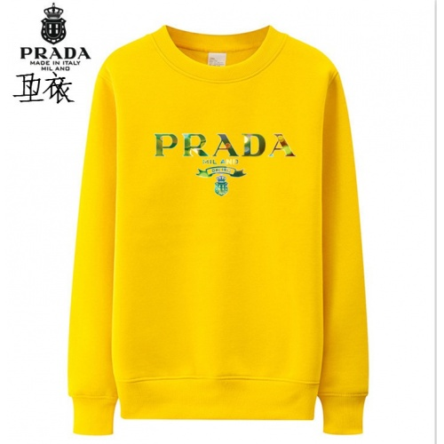 Prada Hoodies Long Sleeved O-Neck For Men #824000