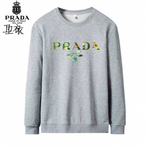 Prada Hoodies Long Sleeved O-Neck For Men #824002