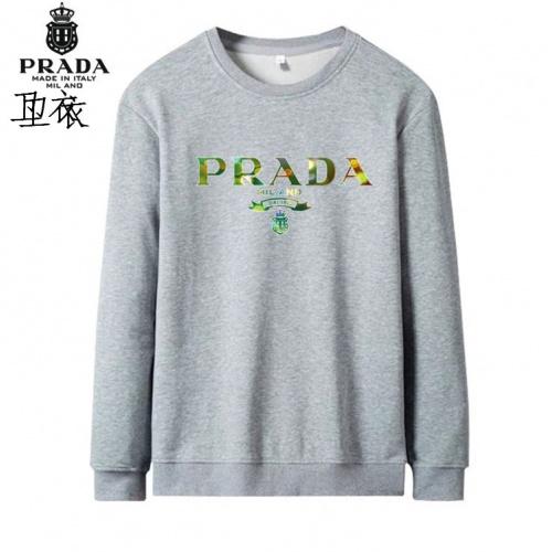 Prada Hoodies Long Sleeved O-Neck For Men #824002