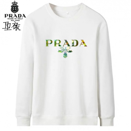 Prada Hoodies Long Sleeved O-Neck For Men #824003