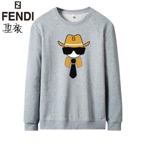 Fendi Hoodies Long Sleeved O-Neck For Men #824011