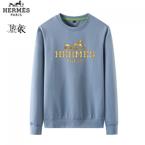 Hermes Hoodies Long Sleeved O-Neck For Men #824017