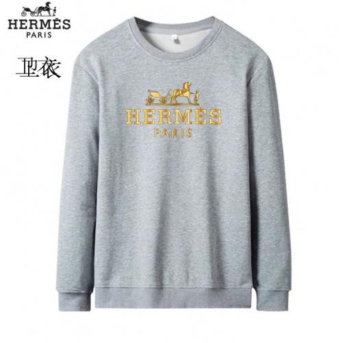 Hermes Hoodies Long Sleeved O-Neck For Men #824020 $40.00 USD, Wholesale Replica Hermes Hoodies