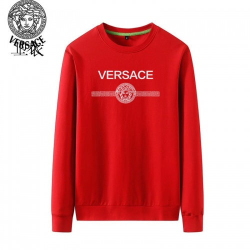 Versace Hoodies Long Sleeved O-Neck For Men #824022 $40.00, Wholesale Replica Versace Hoodies