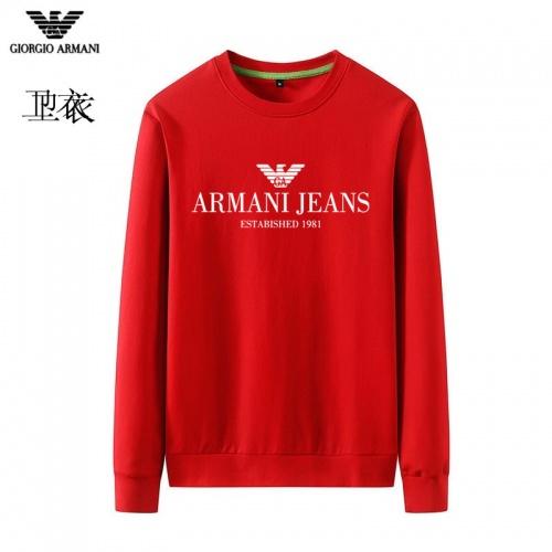 Armani Hoodies Long Sleeved O-Neck For Men #824028