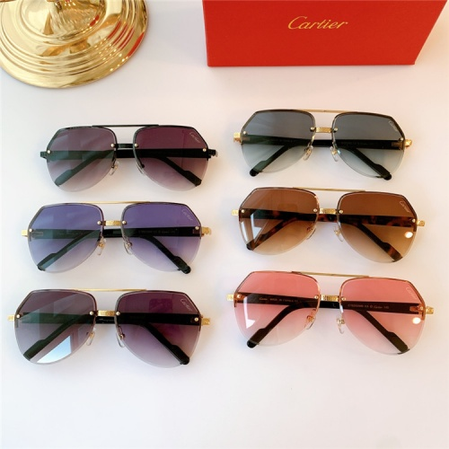 Replica Cartier AAA Quality Sunglasses #824159 $44.00 USD for Wholesale