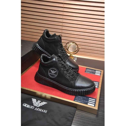 Armani High Tops Shoes For Men #824221