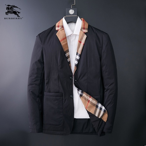 Burberry Down Feather Coat Long Sleeved Zipper For Men #824359
