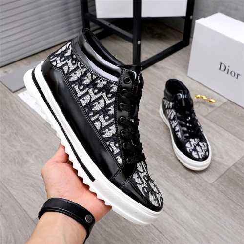 Replica Christian Dior High Tops Shoes For Men #824468 $76.00 USD for Wholesale