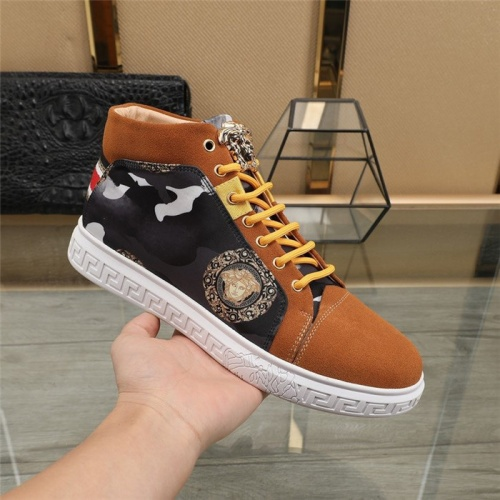 Replica Versace High Tops Shoes For Men #824544 $82.00 USD for Wholesale