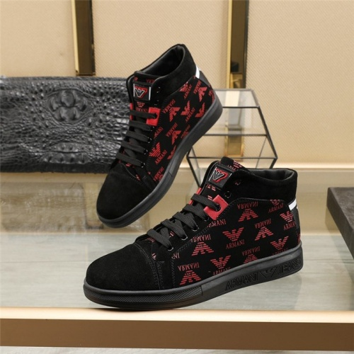 Armani High Tops Shoes For Men #824550