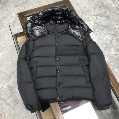 Moncler Down Feather Coat Long Sleeved Zipper For Men #824717