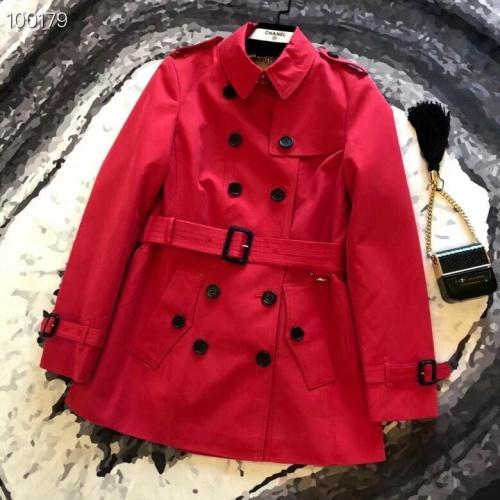 Burberry Windbreaker Jacket Long Sleeved Zipper For Women #824727