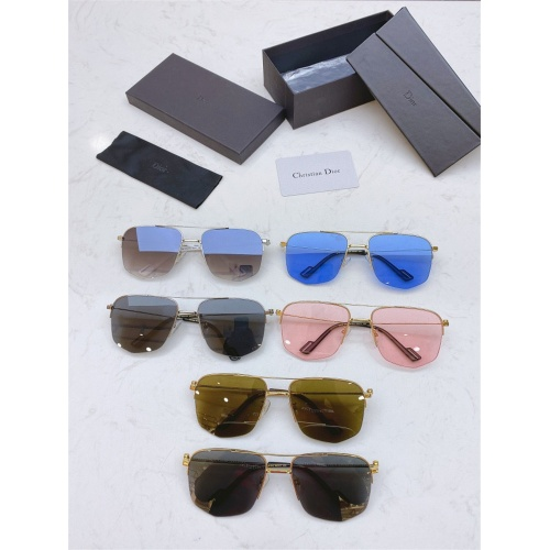 Replica Christian Dior AAA Quality Sunglasses #825054 $43.00 USD for Wholesale