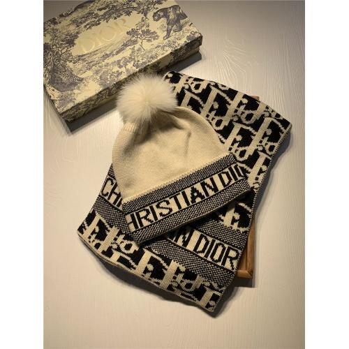 Christian Dior Scarf & Hat Set #825084