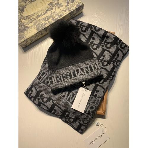 Christian Dior Scarf & Hat Set #825085