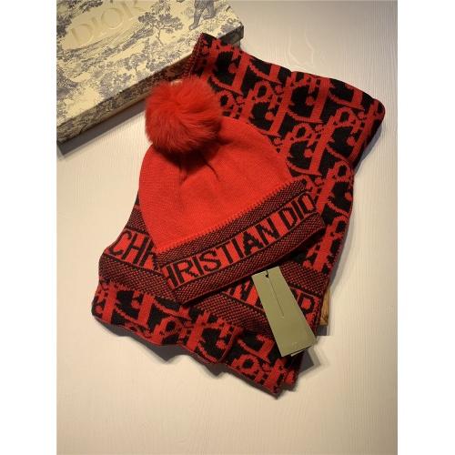Christian Dior Scarf & Hat Set #825086