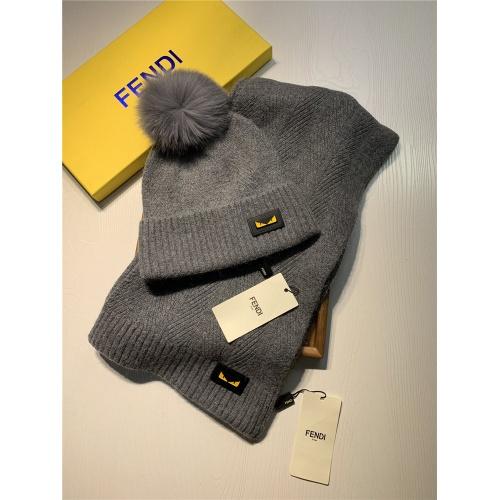 Fendi Scarf & Hat Set #825093