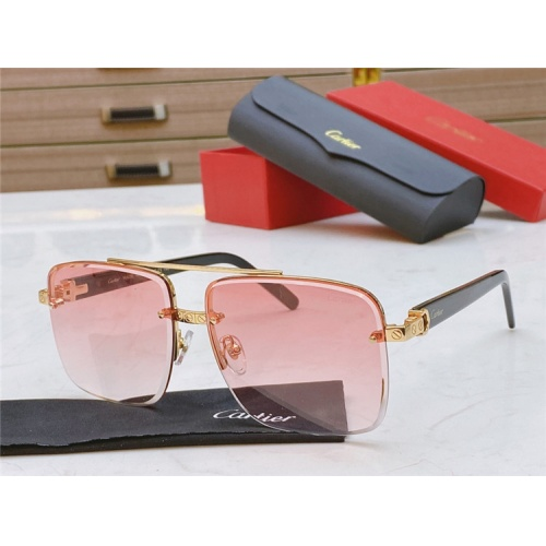 Cartier AAA Quality Sunglasses #825100