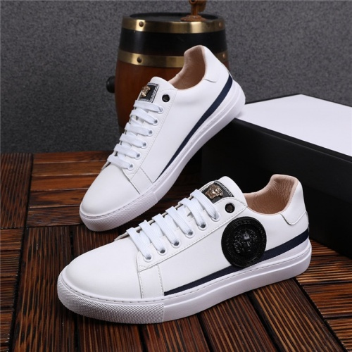 Versace Casual Shoes For Men #825230 $76.00 USD, Wholesale Replica Versace Casual Shoes