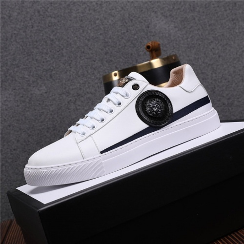 Replica Versace Casual Shoes For Men #825230 $76.00 USD for Wholesale