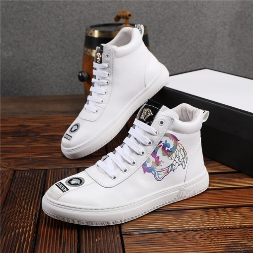 Versace High Tops Shoes For Men #825236