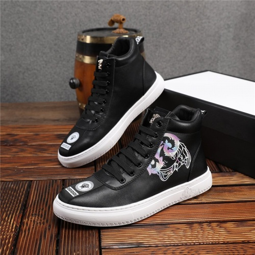 Versace High Tops Shoes For Men #825237