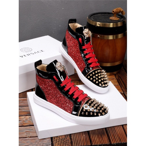 Versace High Tops Shoes For Men #825238