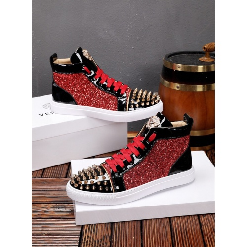 Replica Versace High Tops Shoes For Men #825238 $82.00 USD for Wholesale