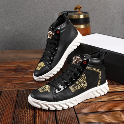 Versace High Tops Shoes For Men #825240