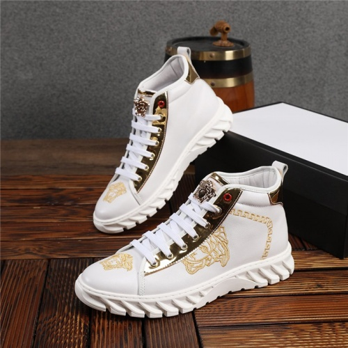 Versace High Tops Shoes For Men #825241