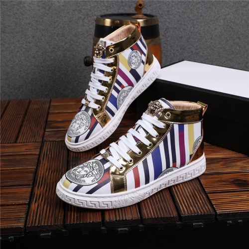 Versace High Tops Shoes For Men #825242