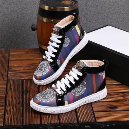 Versace High Tops Shoes For Men #825243