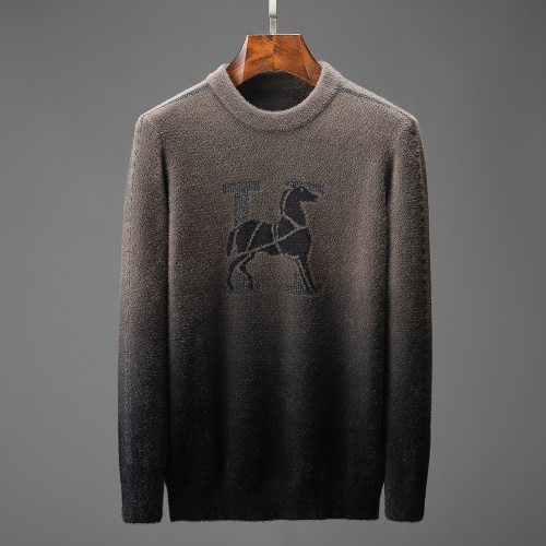 Hermes Sweaters Long Sleeved O-Neck For Men #825414 $52.00 USD, Wholesale Replica Hermes Sweaters