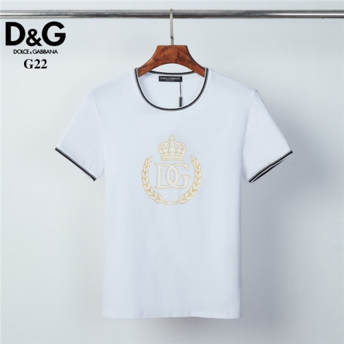Dolce & Gabbana D&G T-Shirts Short Sleeved O-Neck For Men #825439