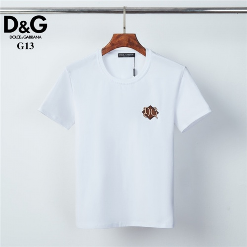 Dolce & Gabbana D&G T-Shirts Short Sleeved O-Neck For Men #825441 $26.00, Wholesale Replica Dolce & Gabbana D&G T-Shirts