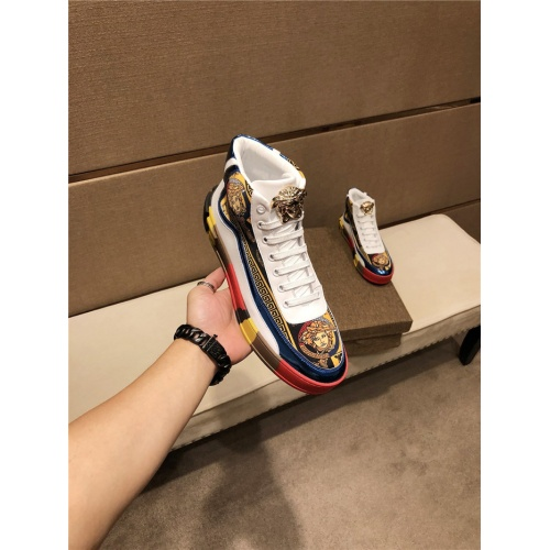 Versace High Tops Shoes For Men #825599