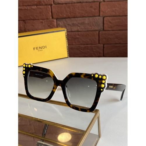 Fendi AAA Quality Sunglasses #825605 $44.00, Wholesale Replica Fendi AAA Sunglasses