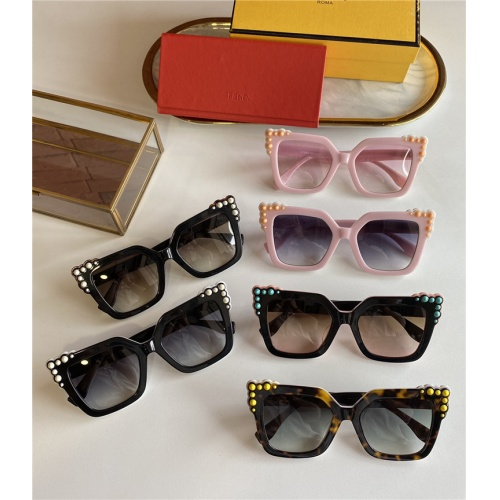 Replica Fendi AAA Quality Sunglasses #825605 $44.00 USD for Wholesale
