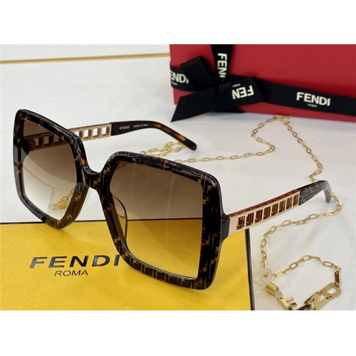Fendi AAA Quality Sunglasses #825742 $65.00 USD, Wholesale Replica Fendi AAA Sunglasses