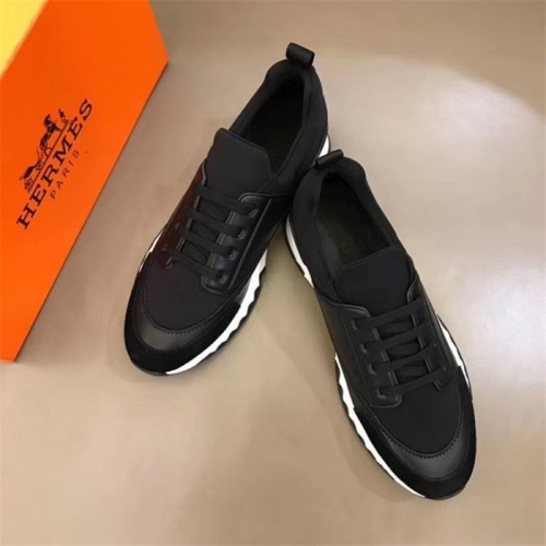 Replica Hermes Casual Shoes For Men #825927 $85.00 USD for Wholesale