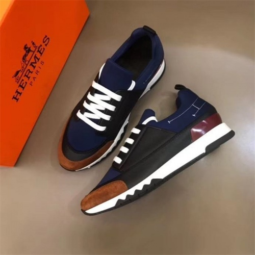 Replica Hermes Casual Shoes For Men #825929 $85.00 USD for Wholesale