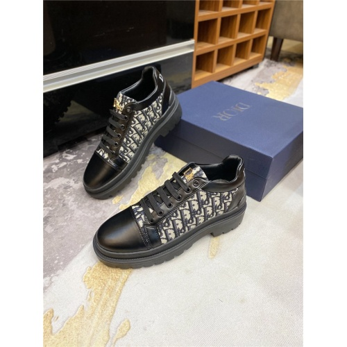 Replica Christian Dior Casual Shoes For Men #825937 $72.00 USD for Wholesale