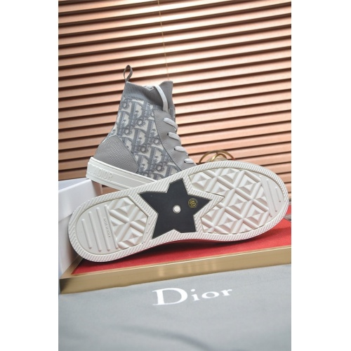 Replica Christian Dior High Tops Shoes For Men #826225 $82.00 USD for Wholesale